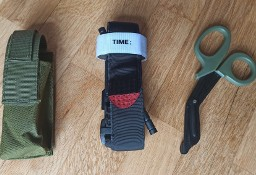 Staza taktyczna zestaw w etui z nożyczkami opaska uciskowa zielona