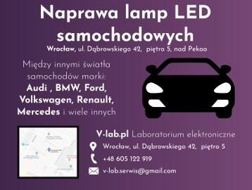 Naprawa Samochodowych Lamp LED, Serwis świateł Auto LED Wrocław