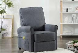 vidaXL Rozkładany fotel masujący, ciemnoszary, tkanina 248671