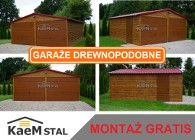 Garaż blaszany 6x5 drewno podobny PRODUCENT garaże blaszane CAŁA POLSKA