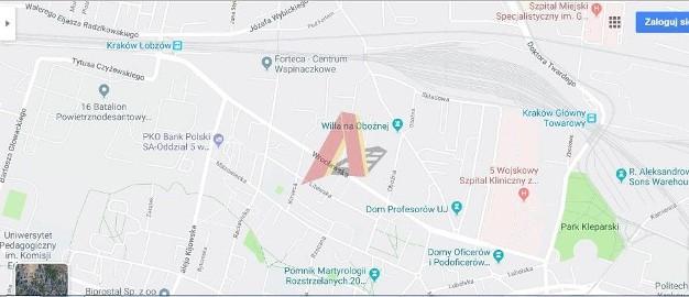 Działka usługowa Kraków Łobzów, ul. Oboźna