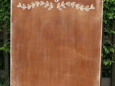 Rustykalna tablica z napisem Plan Stołów, rustykalne dekoracje -1
