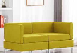 vidaXL Moduły sofy narożnej z poduszkami, 2 szt., tkanina, żółte287047