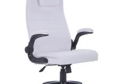 vidaXL Krzesło obrotowe z białej sztucznej skóry, regulowane 20090