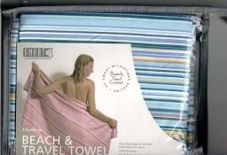 Ręcznik plażowy z microfibry niebieski w paski Smart Microfiber System Warszawa Mokotów