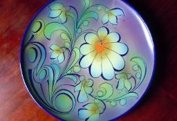 Polska Ceramika Artystyczna lata 60 -te, talerz dekoracyjny