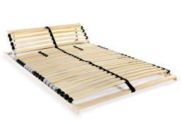 vidaXL Stelaż do łóżka z 28 listwami, drewno FSC, 7 stref, 120x200 cm 246453