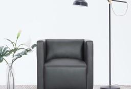 vidaXL Fotel kubik, szary, sztuczna skóra282139