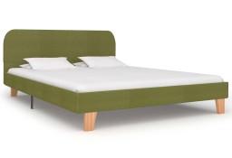 vidaXL Rama łóżka, zielona, tkanina, 140 x 200 cm 280883