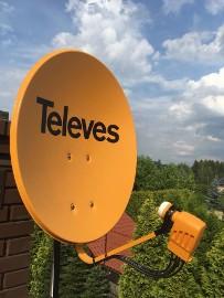 Kraków i okolice montaż serwis anten satelitarnych, dvb-t   24/7