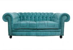 Pikowana Sofa Chesterfield  Plusz Tkanina styl angielski, glamour