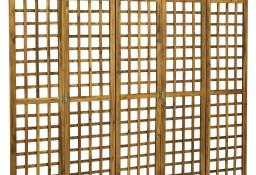vidaXL 5-panelowy parawan pokojowy/trejaż, drewno akacjowe, 200x170 cm46563