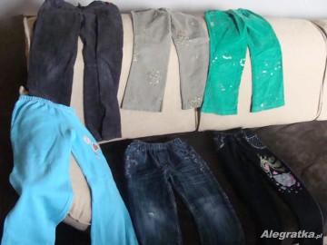 spodnie dziewczęce rozmiar 116 - 6 par