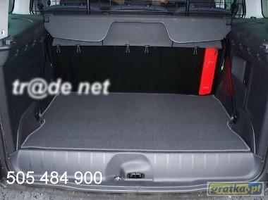 Peugeot Partner Tepee 5 os. od 2008 do 2018rr. najwyższej jakości bagażnikowa mata samochodowa z grubego weluru z gumą od spodu, dedykowana Peugeot Partner-1
