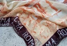 Włoska, wytworna, jedwabna apaszka, chusta, szal/ 100% JEDWAB/ 102x100