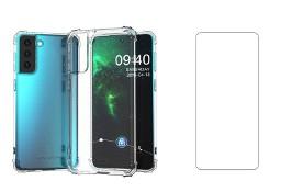Etui Anti Shock + Szkło Płaskie do Samsung Galaxy S21 FE