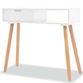 vidaXL Stolik typu konsola, drewno sosnowe, 80x30x72 cm, biały244737