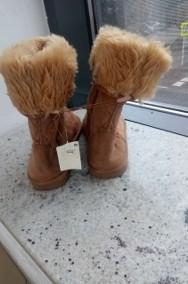 (39) FUTRZANE botki zimowe śniegowce/ kozaki / NOWE-2