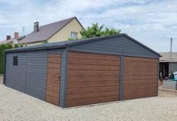Garaż blaszany drewnopodobny 6x6