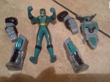 Figurka Power Rangers zielony plus akcesoria-1