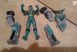 Figurka Power Rangers zielony plus akcesoria