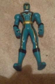 Figurka Power Rangers zielony plus akcesoria-2