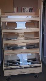 Regał piekarniczy regały piekarnicze meble sklepowe na pieczywo chleb
