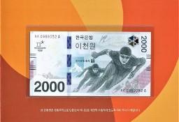 KOREA POŁUDNIOWA 2018 UNC- Zimowa Olimpiada w Pyeongchang.GRATIS WYSYŁKA!