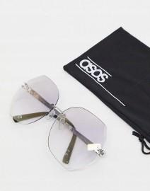 ASOS/ Ekskluzywne, duże okulary przeciwsłoneczne z etui/ muchy z Londynu/ NOWE z metką