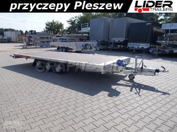 TM-174 przyczepa 511x215cm, Carplatform 5121/3S, 3 osiowa, laweta, platforma, podłoga sklejkowa, DMC 3500kg Tema