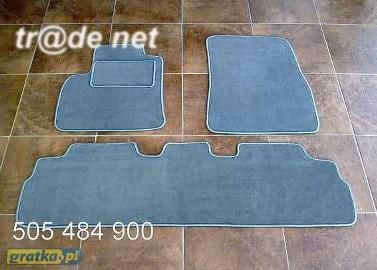 Renault Grand Espace od 2002r. 2 rzędy najwyższej jakości dywaniki samochodowe z grubego weluru z gumą od spodu, dedykowane Renault Grand Espace