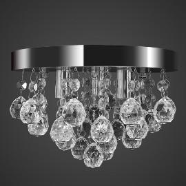 vidaXL Wisząca lampa sufitowa z kryształkami, chromowa 240688