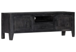 vidaXL Szafka pod TV, czarna, 118 x 30 x 40 cm, lite drewno mango247985