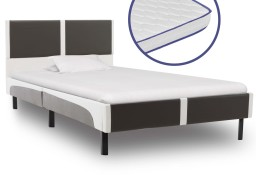 Łóżko z materacem memory, sztuczna skóra, 90x200 cm 277520