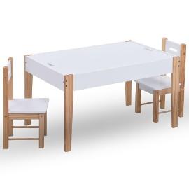 vidaXL 3-częściowy zestaw dla dzieci, stolik do rysowania i krzesła286189