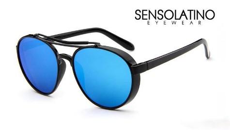 Okulary High fashion SensoLatino Camouflage Cannes With Black Blue