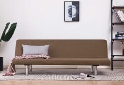 vidaXL Sofa, rozkładana, brązowa, poliester282195