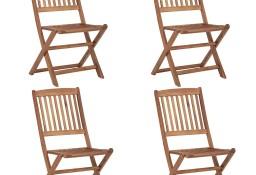 vidaXL Składane krzesła ogrodowe, 4 szt., lite drewno akacjowe 46340