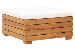 vidaXL Moduł podnóżka, 1 szt., z poduszką, lite drewno akacjowe46688