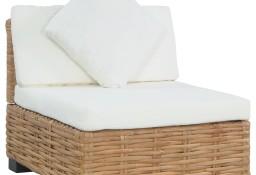 vidaXL Sofa bez podłokietników, z poduszkami, naturalny rattan286280