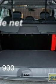 Peugeot 806 przy rozłożonym 3 rzędzie 1994-2002 najwyższej jakości bagażnikowa mata samochodowa z grubego weluru z gumą od spodu, dedykowana Peugeot 806-2