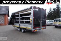 LT-029 przyczepa 420x210x210cm, zabudowa firana 2 - stronna, drzwi tylne 2 skrzydłowe, DMC 2700kg