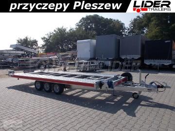 TM-074 przyczepa 480(+20)x206cm, CarKeeper 4820/3, laweta płaska, 3 osiowa, podłoga aluminiowa, DMC 3500kg