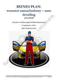 BIZNESPLAN warsztat samochodowy - auto detailing 2018 (przykład)