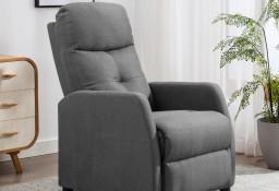 vidaXL Fotel rozkładany, jasnoszary, tapicerowany tkaniną 289816