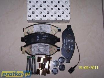 KLOCKI HAMULCOWE ZESTAW PRZÓD JUMPER III 425462 426461 Citroen Jumper