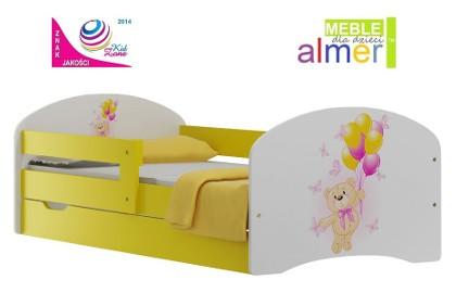łóżko z bajkowym motywem dla dzieci 140x70 + szuflada