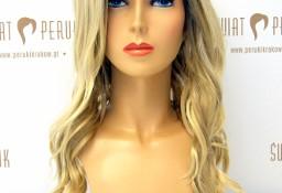 Peruka długa z włosów syntetycznych w odcieniu blond Szydłowiec