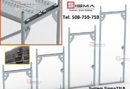 Rama stalowa rusztowania 1,5m x 0,73m - Rusztowanie Ramowe Elewacyjne Sigma73LB