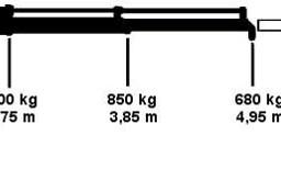 Iveco 72c18 żuraw, HDS do 12 m, wywrotka, skrzynia